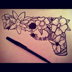 This would be cute with different flowers colored in.