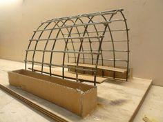 Maquette voor een met druiven begroeid prieel op de tennistuin van Creatief Beheer. In samenwerking met het Albeda College.