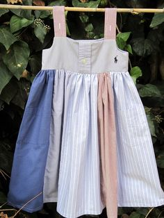 dress made from daddy' shirts. so cute! $38 from Etsy seller Gumdroptree