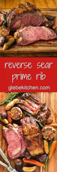 Reverse sear prime rib for perfectly cooked beef every time. - Reverse sear prime rib for perfectly cooked beef every time. Rib Recipes, Roast Recipes, Dinner Recipes, Cooking Recipes, Game Recipes, Steak Recipes, Smoker Recipes, Cooking Ideas, Recipes