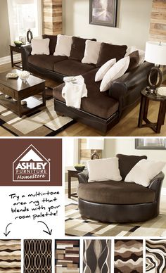 This would match the White leather sofa I purchased from Ashley. Rugs to match a 2-tone sofa - Love!