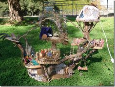 fairy tree house  with instruction on how to make one