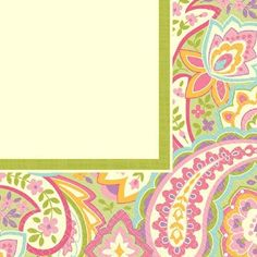 Let us brighten your table with our Pretty Paisley 2-ply Lunch Napkins, which features a beautiful paisley floral border with light green interior. Perfect for adding a splash of color to birthdays, showers, Spring or Easter Celebrations and more. Package contains sixteen napkins that fold out to measure 12 7/8in x 12 7/8in each.