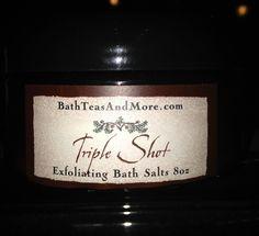I'm selling Triple Shot 8oz bath Salts - $12.99 #onselz Sodium Bicarbonate Baking Soda, Magnesium Sulfate, Dead Sea Salt, Epsom Salt, Pure Essential Oils, Bath Salts, Body Lotion, Aloe