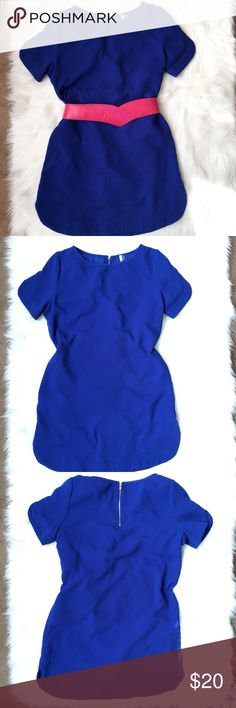 """Mittoshop Shift Dress Cobalt Blue Blue shift dress 30"""" Long 19"""" Armpit to Armpit. Can dress up with heels or wear casual with a cardigan and boots! Mittoshop Dresses Midi"""
