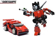 Chibi-Sideswipe Cover New Lego Robot, Lego Toys, Lego Transformers, Lego Mechs, Lego Worlds, Lego Models, Lego Projects, Lego Stuff, Lego Creations