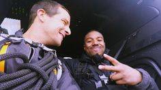 After enduring rainy cliffs, cold nights and a dangerous underground passage, Michael B. Jordan is ready for his final challenge. Bear Grylls, Challenges, Cold, Adventure, Running, Guys, Style, Swag, Keep Running