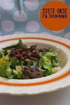 """Oksekød på thaimanér - fra kogebogen """"Rigtig mad"""""""