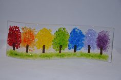 Handmade Fused Glass Art Magical Rainbow by PamPetersDesigns