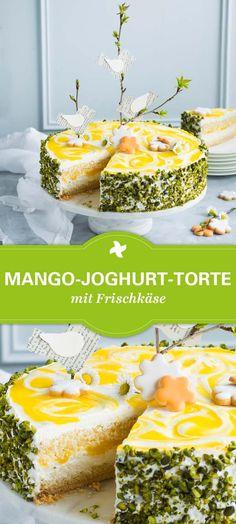 Wow! Was für ein Hingucker! Mango-Joghurt-Torte mit dem Thermomix ® einfach selber machen! Toll zu Ostern oder als frische Torte zum Muttertag!
