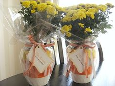 Cute Halloween themed gift - love the candy corn planters