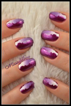 Interesting nail polish design