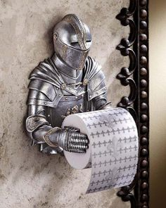 Design Toscano Toilet Paper Holder - Medieval Knight to Remember Gothic Bathroom Decor - Toilet Paper Roll - Bathroom Wall Decor - Funny Toilet Paper Holder, Toilet Paper Humor, Kids Bathroom Accessories, Man Cave Accessories, Gothic Accessories, Toilette Design, Simons Cat, Wall Mounted Toilet, Medieval Knight