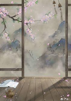 Set Wallpaper, Flower Phone Wallpaper, Chinese Painting, Chinese Art, Japanese Prints, Japanese Art, Fantasy Art Landscapes, Kpop Drawings, Anime Scenery