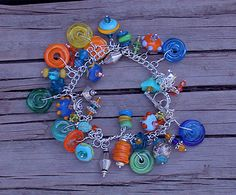 Glass Bead Bracelets and Anklets by seespotrun5 on Etsy, $75.00