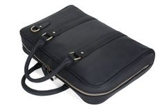 30a1fc82cd Image of Handmade Black Genuine Leather Briefcase