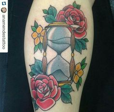 . Hourglass Tattoo, Art Forms, Body Art, Hourglass, Watch, Body Mods