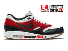 quality design 9fa7c 9fca4 Nike Air Max 1 Essential Red   Black   White 537383-122 Shoes Nike Shop