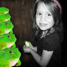 Princess Greta and her frogs Digital Collage