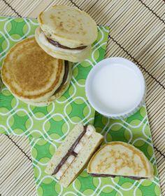 Nutella Banana Dorayaki, pancake sandwiches