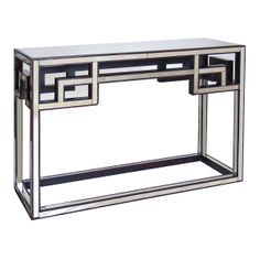 Visit MatthewIzzo.com to see (Worlds Away WA-CONS-2 Fretwork Antique Mirrored Console