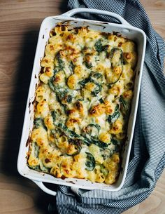 Mac and cheese with greens