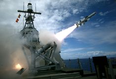 PACIFIC OCEAN (July 19, 2016) USS Coronado (LCS 4), an Independence-variant littoral combat ship, launches the first over-the-horizon missile engagement using a Harpoon Block 1C missile. Twenty-six nations, 40 ships and submarines, more than 200 aircraft and 25,000 personnel are participating in RIMPAC from June 30 to Aug. 4, in and around the Hawaiian Islands and Southern California.(U.S. Navy photo by Lt. Bryce Hadley/Released)