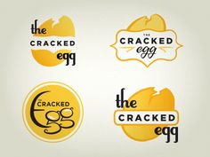 Cracked Egg logo concepts