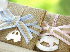 Baby Boy Christening, Christening Favors, Baptism Favors, Boy Baptism, Newborn Gifts, Baby Gifts, Burlap Crafts, Baby Party, Little Gifts