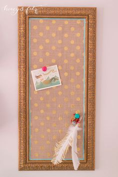 Jumping off point...Customizing a Corkboard with Fabric