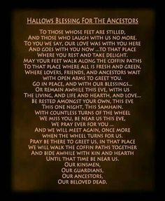 Samhain halloween all hallows eve blessings