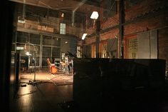 Warehouse studios. Looks like a good place to record a band. Nice vintage space.