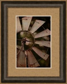 Photography Framed Print featuring the digital art Windmill At Dusk by Terry Davis