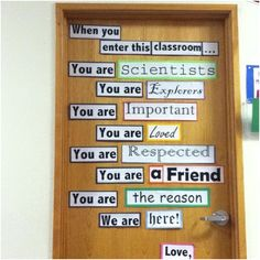 If I teach science again... this could be my door :) doing it as readers and writers....