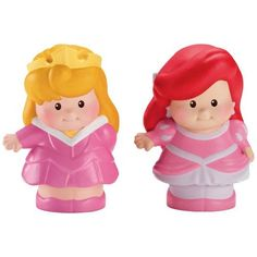 Amazon.com: Fisher-Price Little People Disney 2 Pack: Ariel and Aurora: Toys & Games
