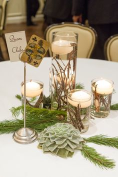 Affordable winter table settings