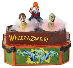 Department 56 Halloween Village Collection Whack A Zombie Animated Accessory, 5.04, casa.com