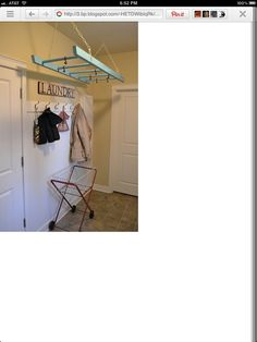 repurposed ladder for hanging space