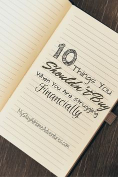 If you are struggling financially or simply want to get control of your debt here are 10 Things You Shouldn't Buy When You Are Struggling Financially.