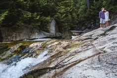 maple ridge wedding photographer shoots at gold creek falls