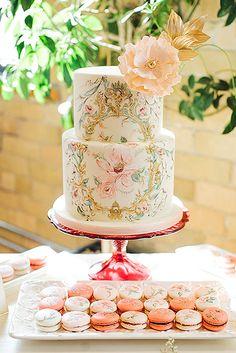 Exquisite Mini Wedding Cakes For Your Wedding ❤ See more: http://www.weddingforward.com/mini-wedding-cakes/…