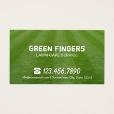 Lawn Care Landscaping Professional Green Field Business Card