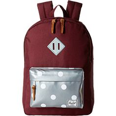 491d43a2f57 Herschel supply co heritage youth big kids windsor wine grey 3m polka dots  muted clay 3m