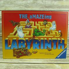 Ravensburger The Amazing Labyrinth Board Tile Game Complete Checkers Board Game, Puzzle Board Games, Board Game Themes, Catan Board Game, Family Board Games, Board Games For Kids, Labyrinth Board Game, Party Card Games, Tiles Game