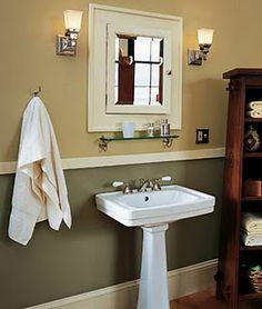 Bathroom: love the two tones