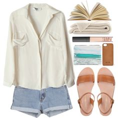 """""""Reading by the seaside"""" by evangeline-lily on Polyvore"""