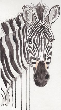 This listing is for an original painting of a zebra. One of my favorite paintings I've done. Easy Watercolor, Watercolor Paintings, Original Paintings, Simple Face Drawing, Horse Outline, Palm Frond Art, Zebra Face, Kids Room Paint, Horse Face