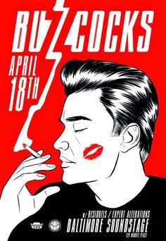 Buzzcocks - Baltimore Soundstage - Mini Print