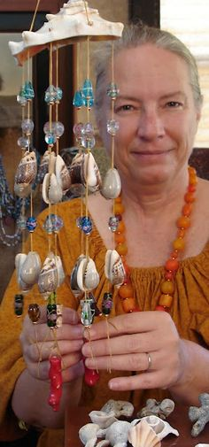 Making a Shell and Glass Bead Wind Chime Sun Catcher