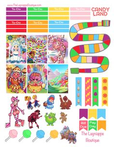 Week of Jan. Printable Planner Pages, Free Planner, Printable Planner Stickers, Journal Stickers, Happy Planner, Planner Ideas, Freebies, Passion Planner, Candy Land